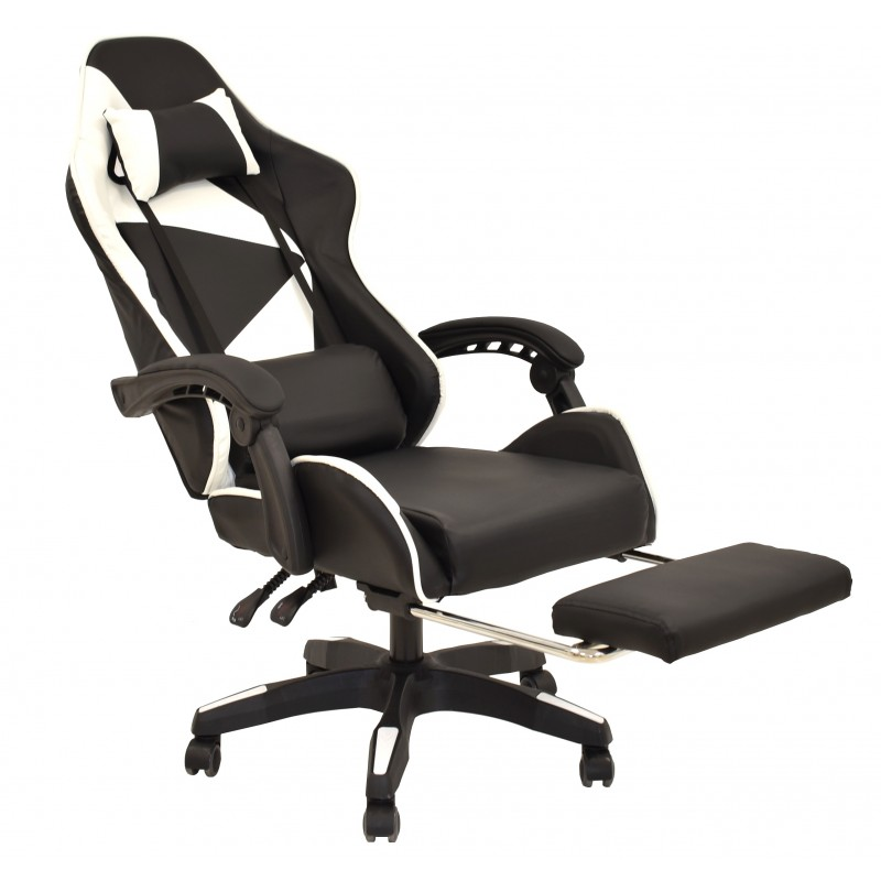 SILLÓN OFICINA GAMING EXTENSIBLE BLANCO