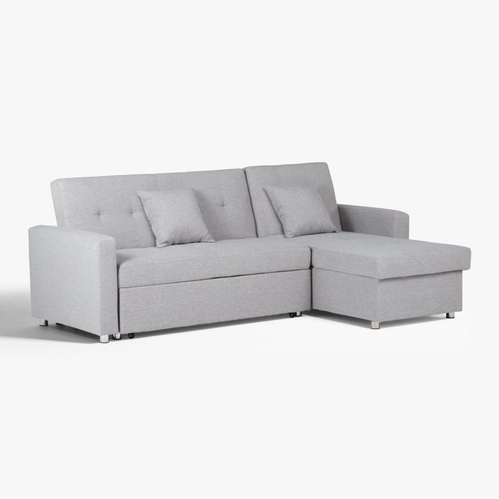 SOFÁ CAMA CHAISE LONG GRIS